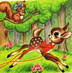 Davy Deer's New Red Scarf Illustration by tiny muffins, via Flickr  Rand McNally Start-Right Elf Book  Illustrated by Helen Adler 1966