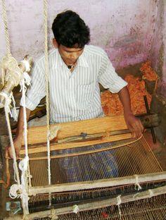 Weaving a fire mat #yogasanamats #newproduction #india