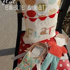 Fabric Paper Dolls {Free Pattern}