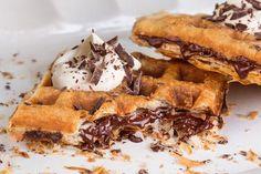 Meet the 'Puffle,' a Chocolate-Stuffed Waffle