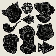Joshua Noom- Icons white on black