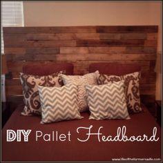 DIY Pallet Headboard + Master Bedroom Decor
