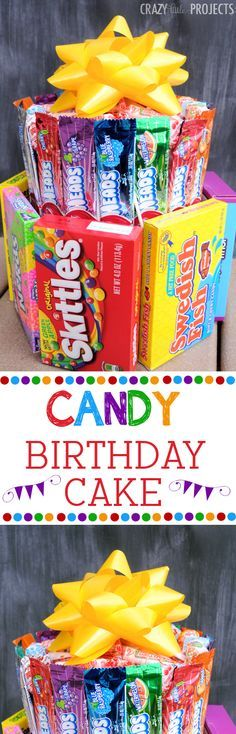 """Make a """"cake"""" out of candy!  Fun gift idea! - A Little Craft in Your Day #teencraft"""