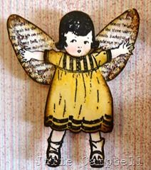 Fairy Samples by Julie Campbell using Born to Fly Clear Art Stamps and Altered Fairy Scraps by Crafty Secrets