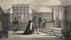 Anne Boleyn & King Henry VIII in the Gallery at Hever Castle- Anne's childhood home. C1530