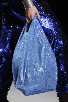 sequin pants & carrier bag Ashish Spring 2014 - Details