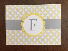 Monogram Card Handmade card  Blank card by PureHeartGreetings