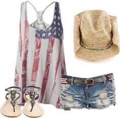 america, created by clolikewhoa on Polyvore Country concert style