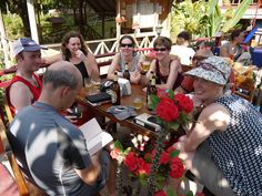 Chilling out in Laos, Hanoi to Laos Mountain Bike Epic, Vietnam, with KE Adventure Travel, https://www.keadventure.com/holidays/vietnam-laos-cycling-sapa