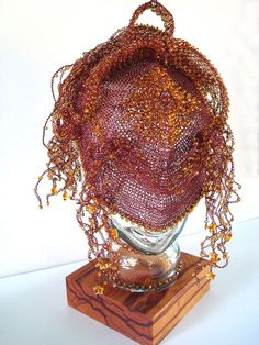 Crocheted Wire Mask  Firefly Festival Mask  by dragonswire on Etsy, $1800.00