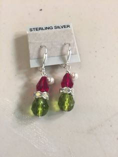 How the Grinch Stole Christmas Earrings Dangle,CINDY LOU WHO NEW Great Detail
