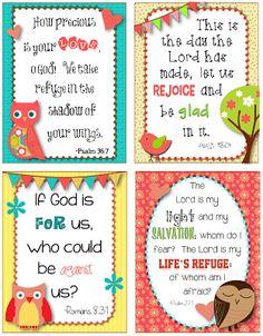 Bible Verse Posters Scriptures For Kids, Bible For Kids, Preschool Bible, Bible Activities, Sunday School Lessons, Sunday School Crafts, Verses For Cards, Scripture Cards, Prayer Cards