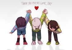 Frisk, Asriel and Chara