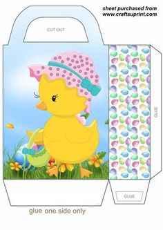 Pin by marina on pscoa iv pinterest easter box and easter chick gift bag 3 on craftsuprint designed by sharon poore easter chick gift bag negle Images