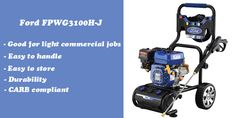 Ford FPWG3100H-J gas power washer for small commercial jobs