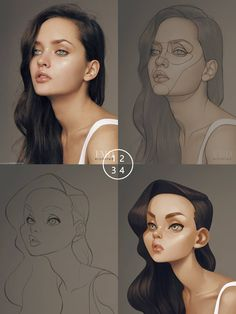 Digital painting tutorials, art drawings, sketches, animation, drawing tips Digital Painting Tutorials, Digital Art Tutorial, Art Tutorials, Drawing Tutorials, Digital Paintings, Cartoon Kunst, Cartoon Drawings, Cartoon Art, Art Drawings