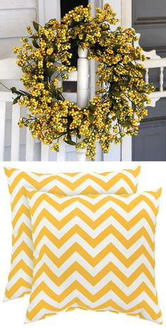 Add a touch of yellow to your home decor to welcome spring. Love this!