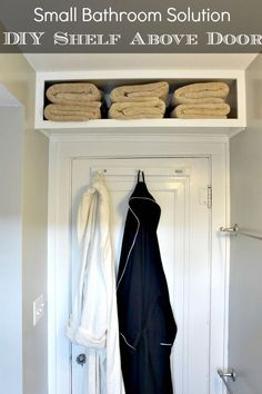 DIY Bathroom Storage for Small Bathroom