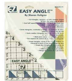 Wrights/EZ Angle I - 4 - x 4 - x 6 - - Sewing Supplies - Sewing & Quilting Supplies a Quilting Board, Quilting Rulers, Quilting Tips, Quilting Tutorials, Half Square Triangle Quilts, Quilt Of Valor, Quilt Block Patterns, Quilt Blocks, Sewing Notions