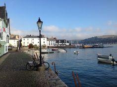 Bayards Cove, Dartmouth, Devon, UK where the Pilgrim Fathers put to sea in The Mayflower in 1620.