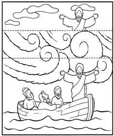Knutselwerkje voor kleuters bij de storm op zee. Op de lijnen vouwen en er komen 2 verschillende tafereeltjes. Eén met storm en één zonder storm
