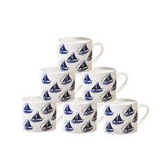 Hinchcliffe & Barber: Pack of 6 Mugs - Sailing. £108.00