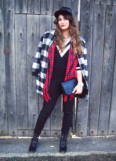 Plaid Madness | Nebunia carourilor | Color Me RED by Roxana Ifrim | Fashion and Style blog Blogger Style, Style Blog, Fashion Bloggers, Stylish Outfits, Madness, Vest, Punk, Plaid, Street Style