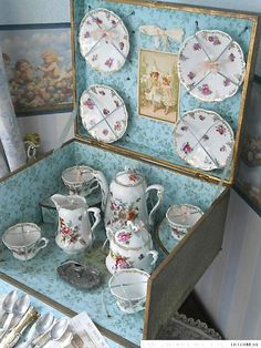 French porcelain tea set