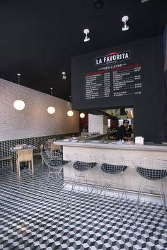 La Favorita restaurant by ARCO Arquitectura Contemporánea, Mexico City hotels and design Retail Interior, Restaurant Interior Design, Cafe Interior, Restaurant Interiors, Design Hotel, Design Café, Design Blog, Store Design, House Design