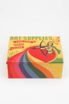 Art Supplies Stash Box $16.99