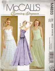 McCall Sewing Pattern 4833 Misses Evening Prom « Dress Adds Everyday
