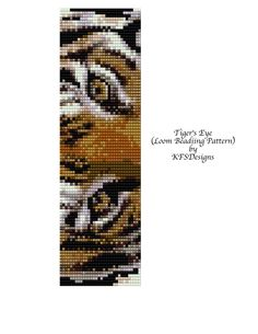 Loom Beading Pattern - Tigers Eye (Buy 2 Patterns, get a 3rd. Pattern FREE) via Etsy