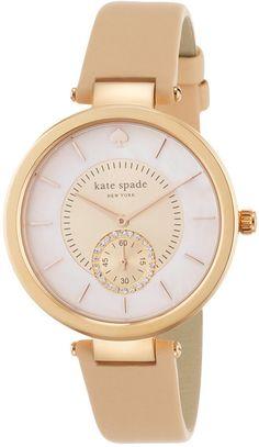 kate spade new york Women's Perry Vachetta Leather Strap Watch 38mm 1YRU0752