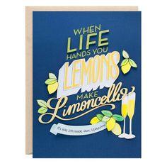Limoncello Greeting Card