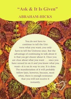 Abraham-Hicks☆☆☆☆☆ASK and IT IS GIVEN – Card