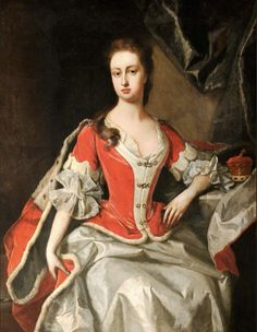 Mary Preston Marchioness/Duchess of Powis, in Peeress's Robes by Michael Dahl (Powis Castle - Welshpool, Powys, UK) Preston, Court Dresses, Lady Mary, Off White Dresses, Art Uk, Dahl, Image Collection, 18th Century, Castle