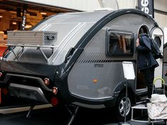 We trekked to the Motorhome and Caravan Show to marvel at pint-sized portable dwellings Teardrop Caravan, Caravans, Camper Van, Motorhome, Recreational Vehicles, Gota, Rv Camping, Cars Motorcycles, Camper