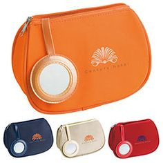 Make-Up Bag with Mirror.Let us source and imprint that perfect Promotional item or Gift  for your Business. Get a Free Consultation here:  http://www.promotion-specialists.com/contact-us/get-a-free-consultation/
