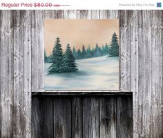 Original Winter Landscape Painting Snowy Landscape Oil by BingArt, $40.00