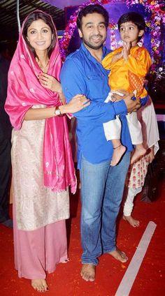 Shilpa Shetty with family