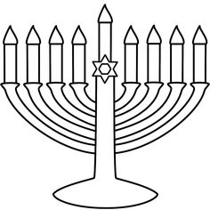 menorah coloring page hannukah