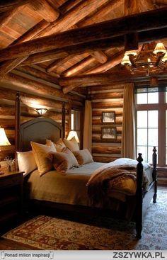 Log cabin bedroom ideas log home bedroom log cabin bedrooms cozy bedroom dream bedroom bedroom log Log Home Bedroom, Log Cabin Bedrooms, Log Cabin Living, Log Cabin Homes, Home And Living, Cozy Bedroom, Bedroom Ideas, Bedroom Decor, Dream Bedroom