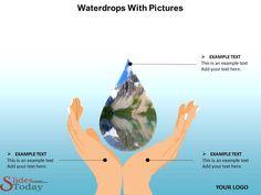Waterdrops Powerpoint Slide