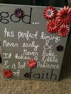 God quote on a canvas
