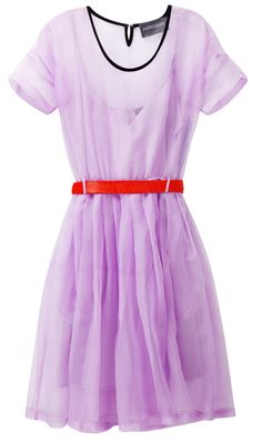 Sheer Lilac Silk Dress / Antipodium. Interesting color combination.