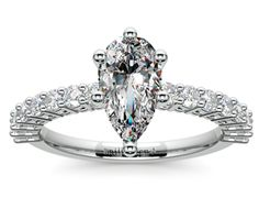 Pear Shared Prong Diamond Engagement Ring in Platinum  http://www.brilliance.com/engagement-rings/shared-prong-diamond-ring-platinum-1/2-ctw