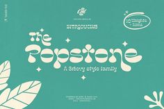 Popstone - Groovy Variable Font Great Fonts, Cool Fonts, New Fonts, Awesome Fonts, Lettering, Typography Fonts, Sans Serif, It Icons, Script