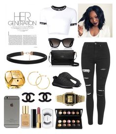 """""""Untitled #27"""" by strxssvogue on Polyvore featuring Topshop, UNIF, Valentino, adidas, Kate Spade, Paco Rabanne, Estée Lauder, Casio, Chanel and MAC Cosmetics"""
