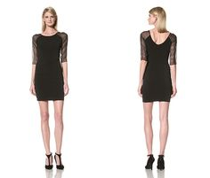 Marc New York Women's Scoop Neck Dress with Sheer Sleeves - http://lowelly.com/women/marc-new-york-womens-scoop-neck-dress-with-sheer-sleeves/
