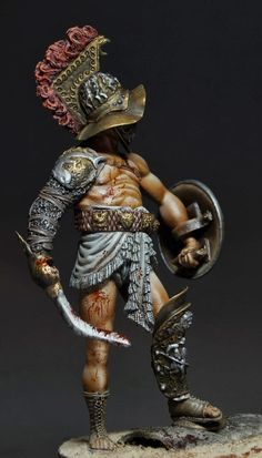 Miniatures painted by Sergey Popovichenko: Gladiator